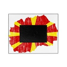 Macedonia Flag And Map Picture Frame