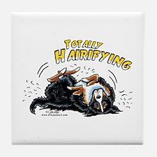 Bernese Mountain Dog Hairifying Tile Coaster