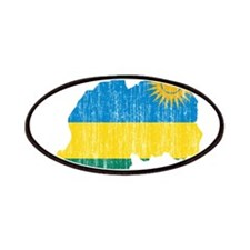 Rwanda Flag And Map Patches