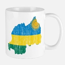 Rwanda Flag And Map Mug