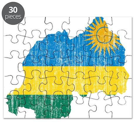 Rwanda Flag And Map Puzzle By FlagsAndMapsAged