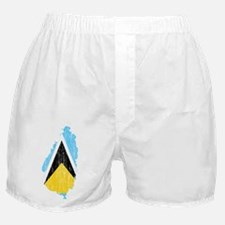 Saint Lucia Flag And Map Boxer Shorts