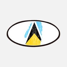 Saint Lucia Flag And Map Patches
