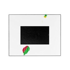 Sao Tome And Principe Flag And Map Picture Frame