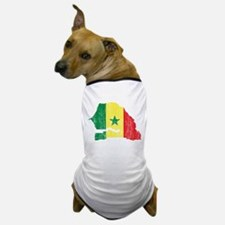 Senegal Flag And Map Dog T-Shirt