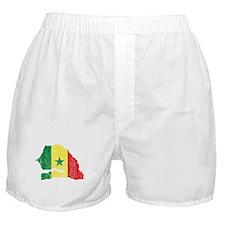 Senegal Flag And Map Boxer Shorts