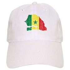 Senegal Flag And Map Baseball Cap