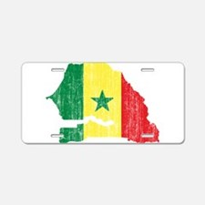 Senegal Flag And Map Aluminum License Plate