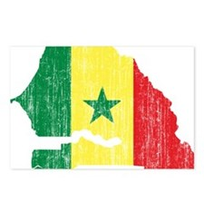 Senegal Flag And Map Postcards (Package of 8)