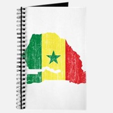 Senegal Flag And Map Journal