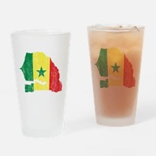 Senegal Flag And Map Drinking Glass