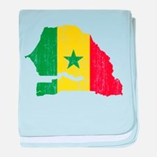 Senegal Flag And Map baby blanket