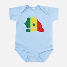 Senegal Flag And Map Infant Bodysuit