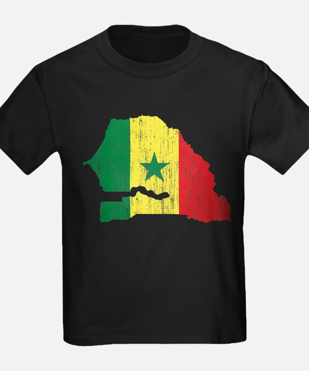 Senegal Flag And Map T