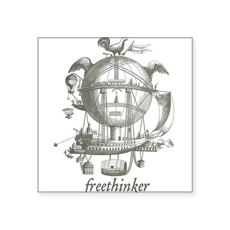 "Freethinker Square Sticker 3"" x 3"""
