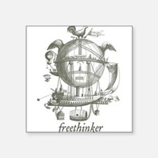 "Freethinker Square Sticker 3"" x 3"""