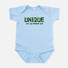 UNIQUE 2011 v4.png Infant Bodysuit
