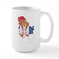 Serbia Flag And Map Mug