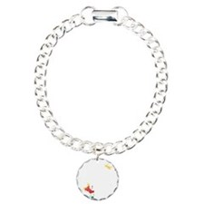 Seychelles Flag And Map Charm Bracelet, One Charm