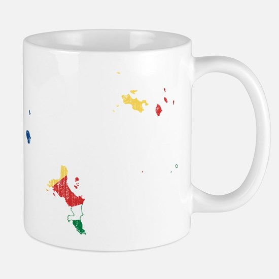 Seychelles Flag And Map Mug