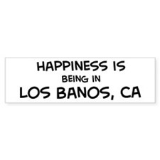Los Banos - Happiness Bumper Bumper Sticker