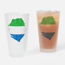 Sierra Leone Flag And Map Drinking Glass