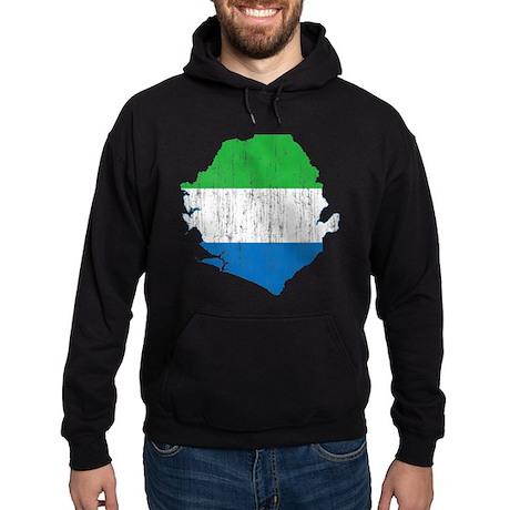 Sierra Leone Flag And Map Hoodie (dark)