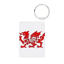 CYMRU DRAGON RED PLASTIC BLACK SHADOW.png Keychains