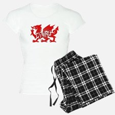 CYMRU DRAGON RED PLASTIC BLACK SHADOW.png Pajamas