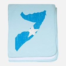 Somalia Flag And Map baby blanket