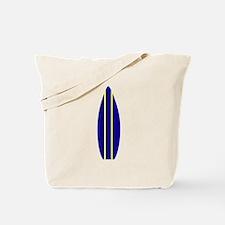 Navy Surfboard Tote Bag