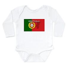 Cute Portugal Long Sleeve Infant Bodysuit