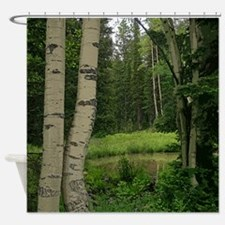 Mountain water hole Shower Curtain