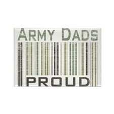 Military Army Dads Proud Rectangle Magnet
