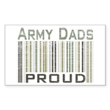 Military Army Dads Proud Rectangle Decal
