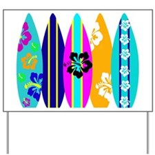 Surfboards Yard Sign