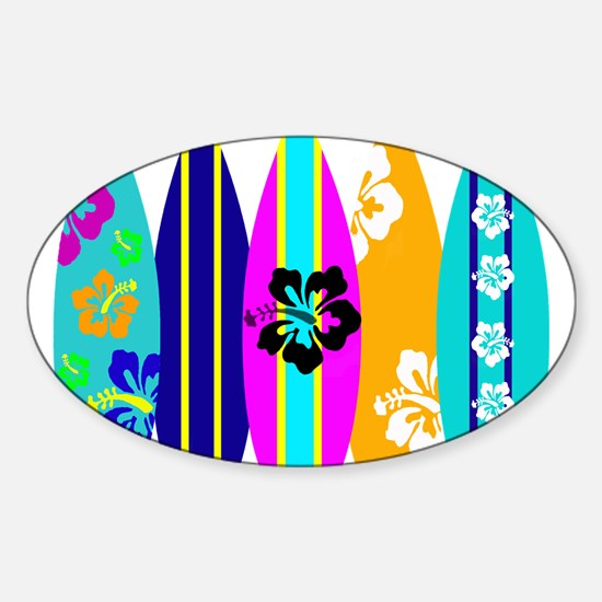 Surfboards Sticker (Oval)