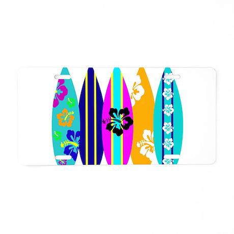 Surfboards Aluminum License Plate
