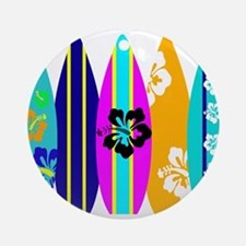 Surfboards Ornament (Round)