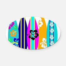 Surfboards Oval Car Magnet