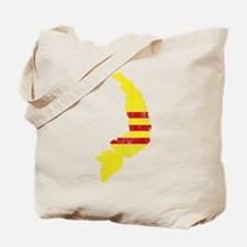 South Vietnam Flag And Map Tote Bag