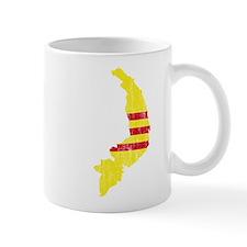 South Vietnam Flag And Map Mug
