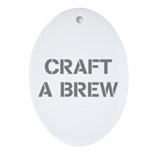 Craft A Brew Ornament (Oval)