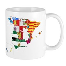 Spain Subdivisions Flag And Map Small Mug