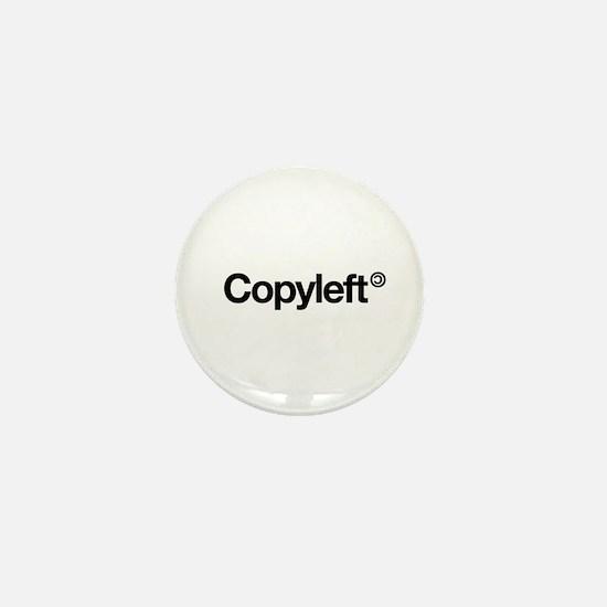 Copyleft Mini Button