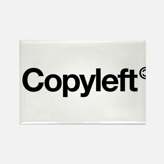 Copyleft Rectangle Magnet