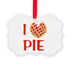 I Love Pie Ornament