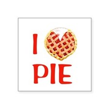 "I Love Pie Square Sticker 3"" x 3"""