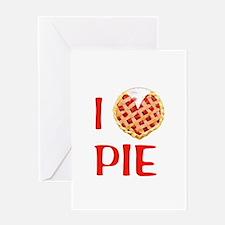 I Love Pie Greeting Card