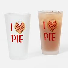 I Love Pie Drinking Glass